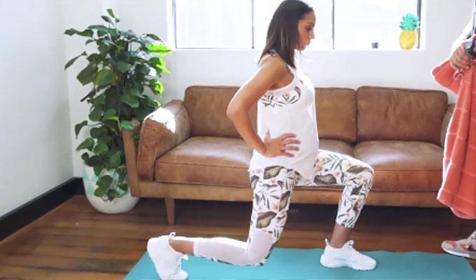 Легкая тренировка во время беременности